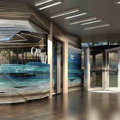 【商業空間】Club W與CAFE W上海中心店 根據 亚卡默设计 Akuma Design 現代風 塑木複合材料
