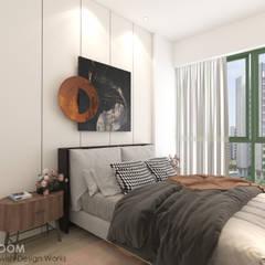 Paya Lebar Residences Modern style bedroom by Swish Design Works Modern Plywood