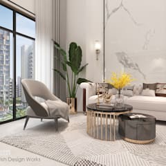 Bishan St 23 Modern living room by Swish Design Works Modern Marble