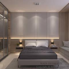 Bishan St 23 Modern style bedroom by Swish Design Works Modern Plywood