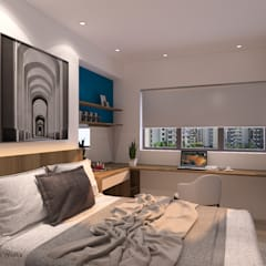Hougang St 51:  Bedroom by Swish Design Works,Modern Plywood