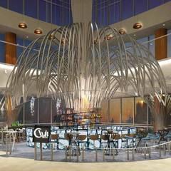 【商業空間】邁麗亞餐廳與CLVB酒吧 上海恒隆廣場店 根據 亚卡默设计 Akuma Design 現代風 鐵/鋼