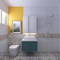 Woodlands St 81:  Bathroom by Swish Design Works,Modern