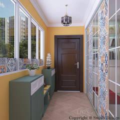 Woodlands St 81:  Corridor, hallway by Swish Design Works,Modern