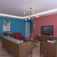 Woodlands St 81:  Living room by Swish Design Works,Modern