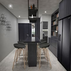 Clementi Ave 1:  Dining room by Swish Design Works,Industrial Plywood