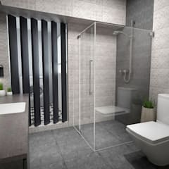 Clementi Ave 1:  Bathroom by Swish Design Works,Industrial