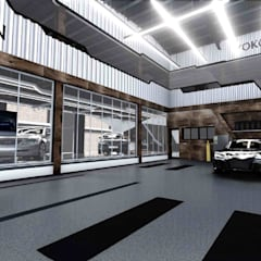 Car Dealerships by 亚卡默设计 Akuma Design , Modern Concrete