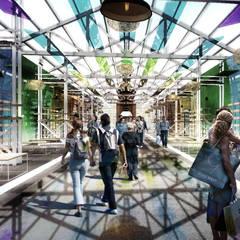 Exhibition centres توسط亚卡默设计 Akuma Design , مدرن پلاستیک
