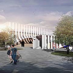 【都市設計】四川角色扮演遊戲園區設計 根據 亚卡默设计 Akuma Design 現代風 金屬