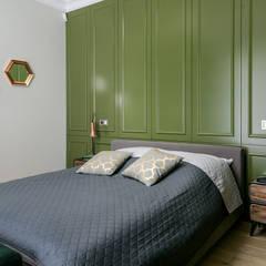 Sypialnia z elementami sztukaterii Klasyczna sypialnia od Q2Design Klasyczny