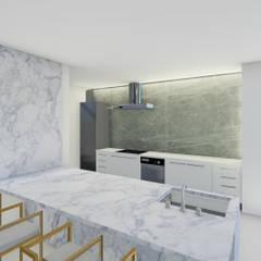 من Barreres del Mundo Architects. Arquitectos e interioristas en Valencia. حداثي رخام