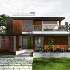 Condominios de estilo  por ar.silpa shaiju, Moderno