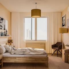 Dormitorios pequeños de estilo  por Serge Ra , Escandinavo Madera Acabado en madera
