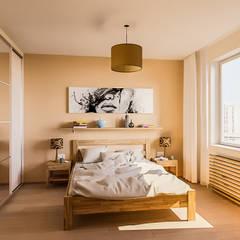 Projekty,  Małe sypialnie zaprojektowane przez Serge Ra, Skandynawski Drewno O efekcie drewna