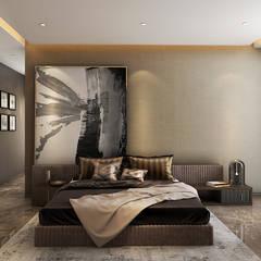 Bedroom Ashleys Modern style bedroom Beige