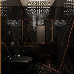 Powder room Ashleys Modern bathroom Black