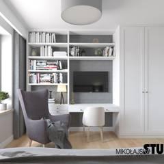 DOM RODZINNY: styl , w kategorii Małe sypialnie zaprojektowany przez MIKOŁAJSKAstudio ,Eklektyczny