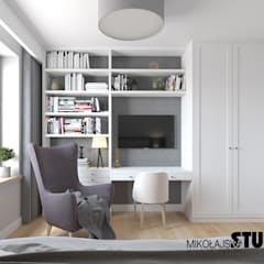Small bedroom by MIKOŁAJSKAstudio , Eclectic