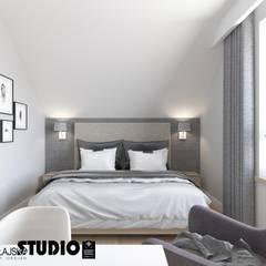 غرف نوم صغيرة تنفيذ MIKOŁAJSKAstudio , إنتقائي