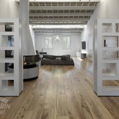 ห้องนั่งเล่น โดย Cadorin Group Srl - Top Quality Wood Flooring, โมเดิร์น ไม้ Wood effect