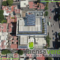 رووف تراس تنفيذ Piensa Verde México, Querétaro, Cancún, صناعي فلز