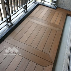 Balcony by 新綠境實業有限公司, Asian Wood-Plastic Composite