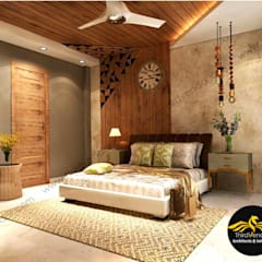 Small bedroom by ThirdVendor - Architects & Interiors, Rustic Wood Wood effect