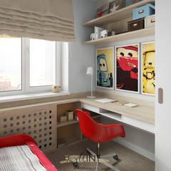 2х-комнатная квартира студия на ул. Березовая: Спальни для мальчиков в . Автор – M.Int - Мастерская интерьера, Минимализм