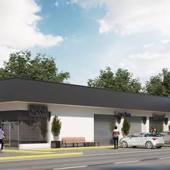 مراكز تسوق/ مولات تنفيذ Construcción y Desarrollos Inmobiliarios DIBAR, حداثي الخرسانة