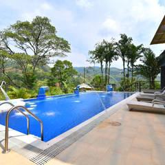 NATURAL PARADISE HOTEL BOUTIQUE PISCINA : Hoteles de estilo  por C&P ARQUITECTURA, DISEÑO Y CONSTRUCCION S.A.S, Moderno