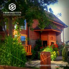 Locales gastronómicos de estilo  por simoniarquitecto, Clásico Madera Acabado en madera
