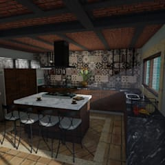 Built-in kitchens by A + I PROYECTO, Rustic