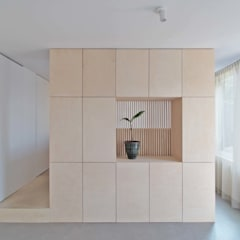 Tiny House:  Woonkamer door Julius Taminiau Architects, Minimalistisch Hout Hout