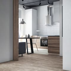 Kleine keuken door Анна Борматова, Industrieel