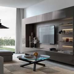 Modern Media Room by Edificaciones Arcon Modern