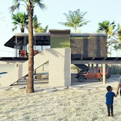 Arquitetura Meridional의  간이 차고, 모던 콘크리트