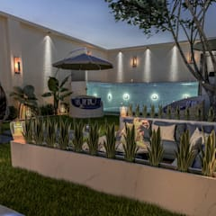 Oficinas y Tiendas de estilo  por Ali Kafadar İç Mimarlık, Tropical Ladrillos