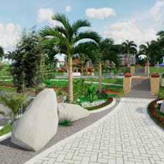 Rock Garden by ROQA.7 ARQUITECTURA Y PAISAJE, Tropical