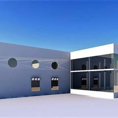ag arquitectura sa의  벽, 인더스트리얼 콘크리트