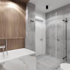Phòng tắm phong cách thực dân bởi Wkwadrat Architekt Wnętrz Toruń Thực dân Gỗ-nhựa composite