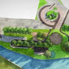 Kiasma Landscapes의  정원 연못, 모던
