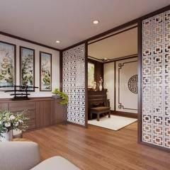 Sauna by Công ty TNHH Nội Thất Mạnh Hệ, Modern لکڑی Wood effect