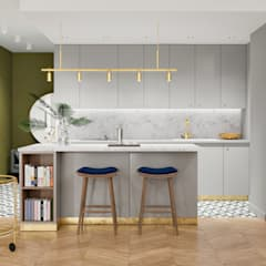 Built-in kitchens by Wiktoria Ginter - interiorismo, Eclectic Wood Wood effect