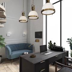 Офис адвоката: Рабочие кабинеты в . Автор – Дизайнер Иванова Виктория, Лофт