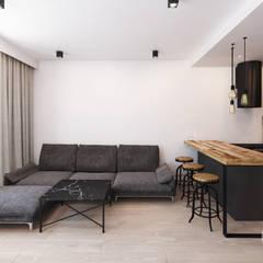 Mieszkanie w Słubicach Minimalistyczny salon od 365 Stopni Minimalistyczny