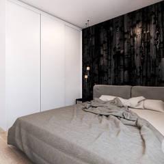 Mieszkanie w Słubicach Minimalistyczna sypialnia od 365 Stopni Minimalistyczny