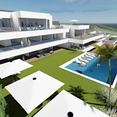MGR Arquitecturaが手掛けた二世帯住宅, 地中海