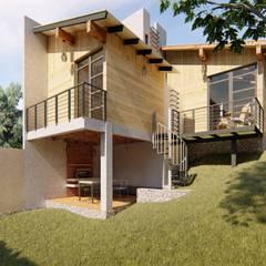 Chalets de estilo  por ELH Studio Arquitectura, Moderno Concreto