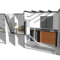 Kleine huizen door MIDA , Minimalistisch Beton